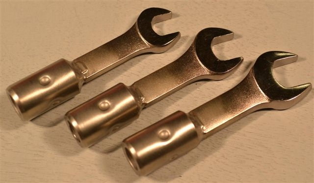 Open End Standard Medium Small Size Wrench Group,3/8, 7/16, 1/2, 3Pc.
